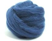 Denim (blue) - Shetland Wool Top - Roving - Needle/Wet/Nuno Felting Wool - Spinning