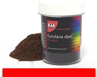 Red - Eurolana Wool Dye - Hand Dye Your Own Wool - Roving/Top