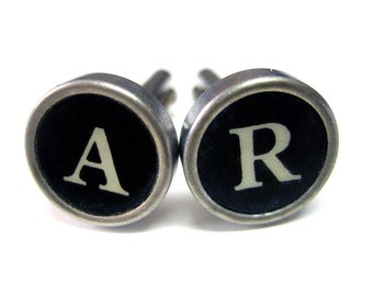 Personalized Authentic Typewriter Key Cufflinks