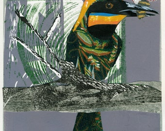 Collaged Beeeater bird