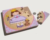Lil' Princess Hand Painted Wooden Jigsaw Puzzle