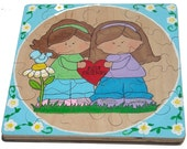 Best Friends Children's Handpainted Wooden Jigsaw Puzzle - Ready To Ship