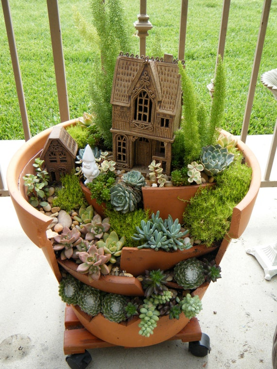 Succulent planter home scene - One of a kind
