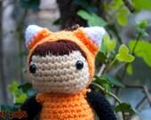 Amigurumi fox costume
