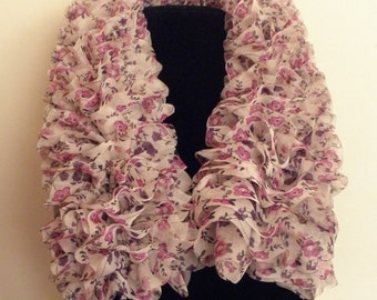 Floral Ribbon Scarf