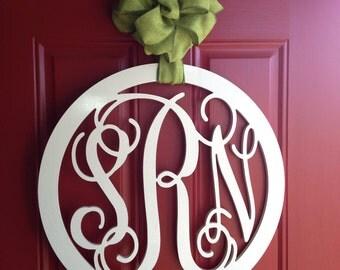 24'' Custom Wood Monogram in Vine Font with Border,Wooden wall monogram, photo prop