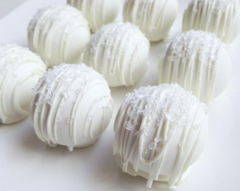 Cake Truffles - Wedding Day Cake Truffles - Cake Balls - White Chocolate Wedding Day Cake Bites