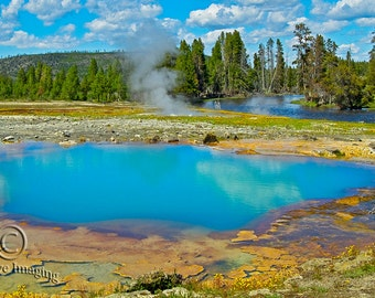 Yellowstone Photography,  Yellowstone National Park, Thermal Pool, Nature Photography, Landscape Photography, National Park