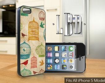iPhone 5 / 5c / 5s Case  - Vintage Bird Cage  Cover iP5