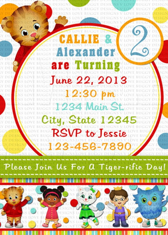 Daniel Tiger Invitation Daniel Tiger Birthday by ...