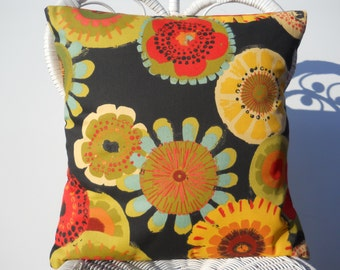 Outdoor Pillow Cover, 18 Inch Pillow Case, Cushion Cover, Out Door Pillow Sham, Red/Black/Coral/Green, Sun/Shade Pillow Cover, Couch/Bed