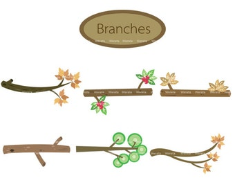tree branch clipart - tree branch clip art  - branch clipart - tree branches - Personal and Commercial Use