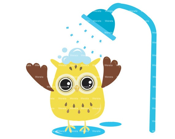 Items Similar To Owl Shower Decorations Clipart Clip Art Baby Card Invitation