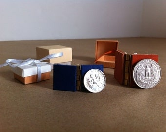 Mini Hinge Book & Box with message