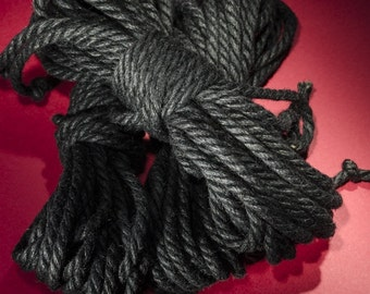 Jute Rope Kit for Shibari / Kinbaku - Black