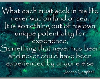GRADUATION CARD - Inspirational Quote by Joseph Campbell - Also Available as a Print with a Free Mat - Great Gift Idea (CGRAD2013077)
