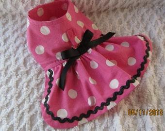 Custom Boutique Minnie Mouse Inspired Dog or Cat Dress Xxxxs, Xxxs, XXS, XS, Small or Medium