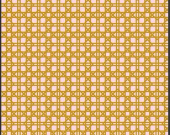 1 Yard LILLY BELLE  Rattan Blush Fabric by BARI J. For Art Gallery