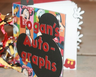 Customized and Personalized Disney Autograph Books Handmade