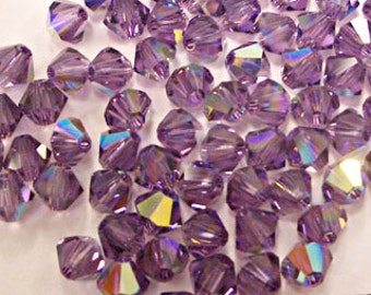 Swarovski Crystal Xilion 4mm Lilca AB color / 256 AB (100 pcs)