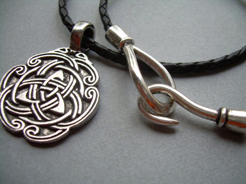 men 39 s celtic pendant and leather necklace men 39 s. Black Bedroom Furniture Sets. Home Design Ideas
