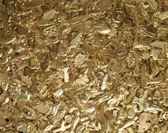 1000 MILAGROS LOT gold color mexican folk art ex votos wholesale