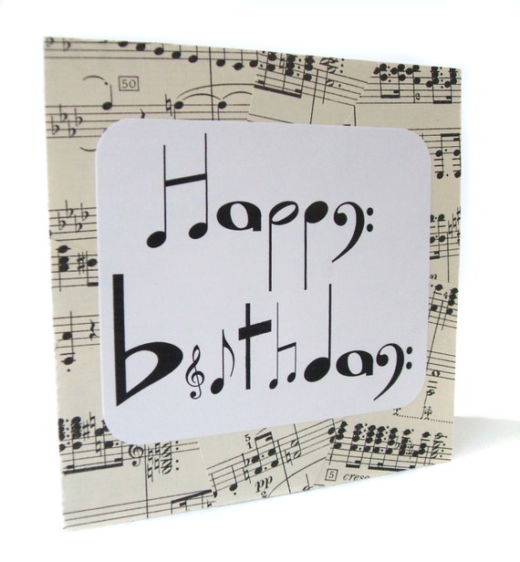 Articoli Simili A Musical Notes Birthday Card