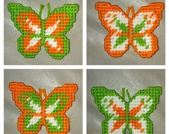 Set of 4 Butterflies Refrigerator Magnets