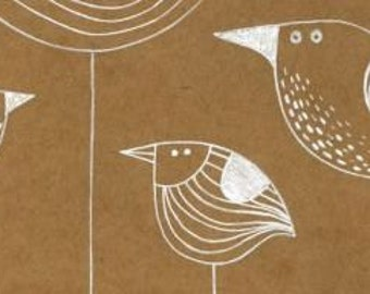 Original drawing in white ink on coffee dyed paper.