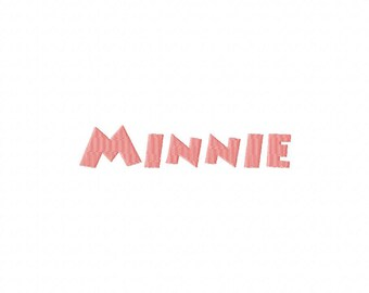 INSTANT DOWNLOAD Minnie Mouse Font Machine Embroidery Font Set Includes 3 Sizes