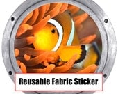 Huge 19 inch Hanmade Clown Fish REMOVABLE REUSEABLE Canvas