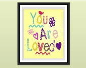 Nursery Art Print, You are Loved. Nursery Decor, Nursery/Children's Art Print - 8 x 10 in. NA3: You are Loved