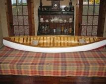 6' Scale Model Cedar-Canvas canoe