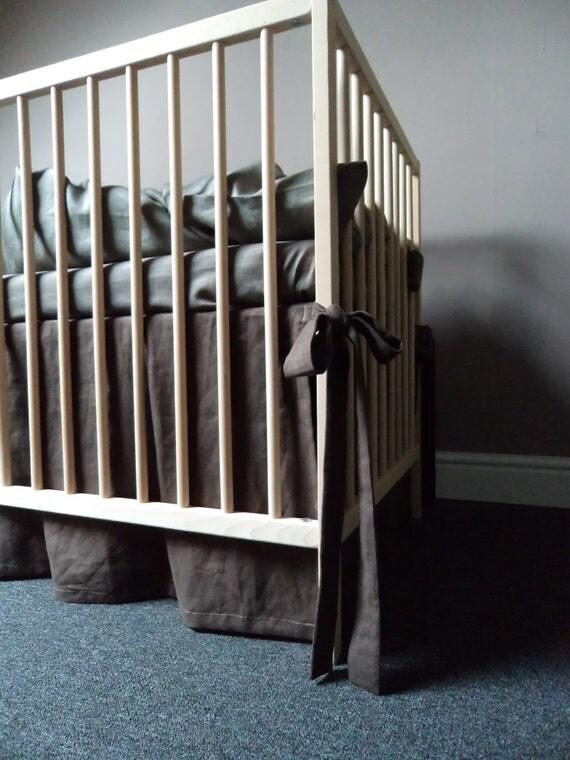 Brown Crib Skirt 16