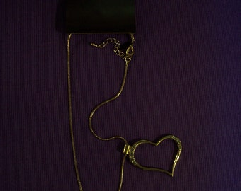 New York Company black silver necklace with heart pendant #16