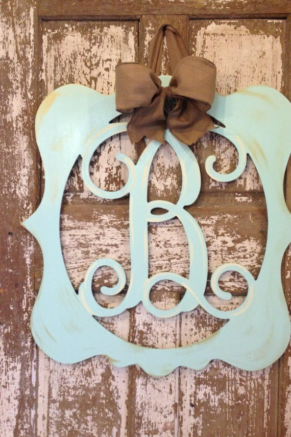 monogrammed wooden wreath    hanger by southernstylegifts on etsy