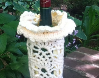 Handmade (Crochet) Dirty White with Flower Top