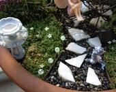 Miniature Fairy Garden Glass Glow In The Dark Path Light doll house