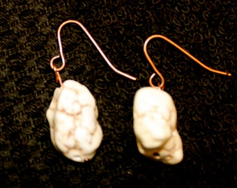 Magnesite Copper Earrings