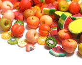 20 Miniature Fruits Dollhouse Foods (Random Mix)