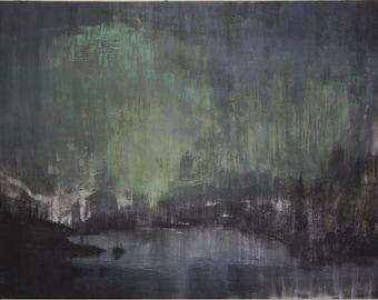 Harbor - Large Acrylic Painting
