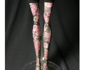 Dolls stockings for Monster high doll   Black rose   MH04