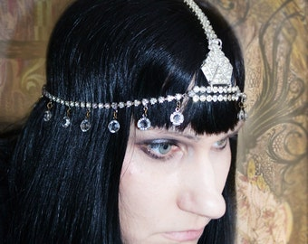BLOW OUT SALE Art Deco Rhinestone Headdress Tiara Ready to Ship was 150.00