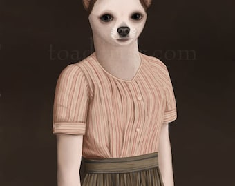 Daisy Chihuahua Portrait - Downton Abbey - 8x10 Signed Print