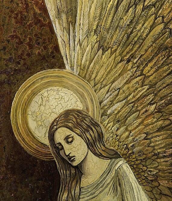 Gold Angel Medieval Renaissance Goddess 11x14 Art by ...