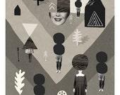Test Area / / Fine Art Print / Collage / Retro