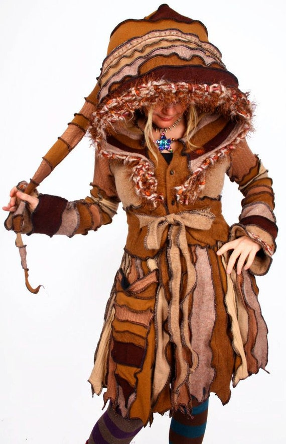 TUTORIAL - Pixie Coat made from Recycled Sweater -Tribal Forest Nymph