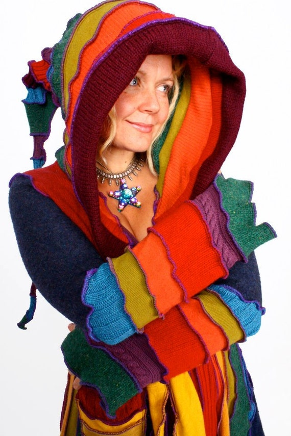Katwise Elf Coat Recycled Sweater Tutorial Plus size by katwise | Etsy