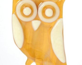 Carmel and Cream Owl ornament-owl ornament-bird ornament-bird lovers-birders