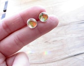 petite Feathers earring studs